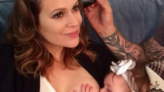 Alyssa Milano Made A Joke About Breastfeeding, And The Internet Didn't Understand