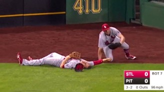 This Terrifying Collision Left The Cardinals' Stephen Piscotty Motionless On The Field
