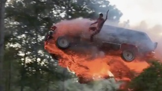 These Dudes In Alabama Spent Labor Day Jumping A Flaming SUV Into A Lake