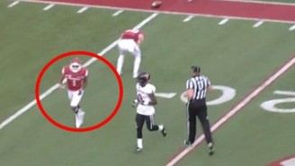 An Arkansas Wide Receiver Suffered A Nasty Arm Injury Against Texas Tech