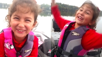 This Little Girl Catching A Massive Fish On A Barbie Pole Is The Happiest Thing You'll See Today