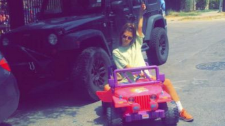 A College Student Is Driving A Barbie Jeep Around Campus After Her DWI Arrest