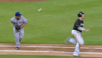 42-Year-Old Bartolo Colon Made An Amazing Behind-The-Back Play
