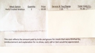 This Woman Received A Bill From A Bride And Groom After Being A No-Show To Their Wedding