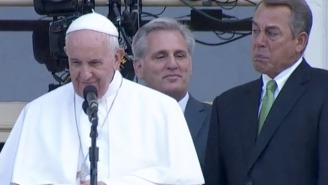 Watch John Boehner Totally Lose It In Front Of Pope Francis