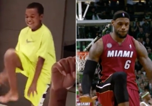 Here's LeBron's Son Doing A Spot-On LeBron James Impression