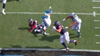 Check Out Cam Newton's Wild Front Flip Into The End Zone For A Touchdown