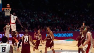 Canada 'Shorts' The Pick-And-Roll For A Towering Alley-Oop By Anthony Bennett