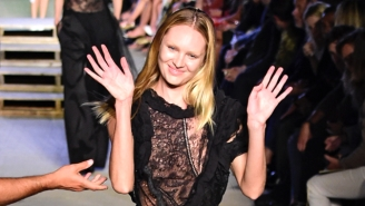 Candice Swanepoel Lost To Gravity, Ate Runway Concrete, And Handled It Like A Pro
