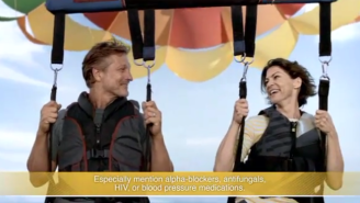 What Does That Parasailing Couple In The Cialis Commercial Think They're Doing Up There?