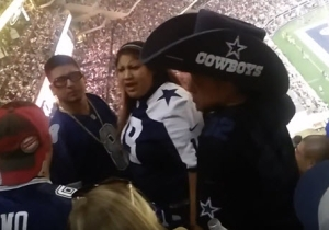 This Amusing Fight Between Cowboys Fans Is Highlighted By A Man In A Ridiculously Large Hat
