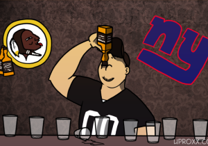 Here's Your Redskins Vs. Giants Thursday Night Football Drinking Game