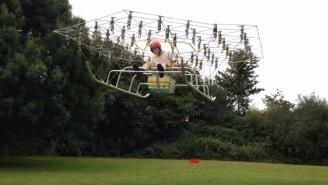 This Guy Built A Terrifying Flying Machine From 54 Drone Propellers