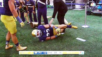 Notre Dame's Drue Tranquill Suffered A Gruesome Sounding Injury Celebrating A Play