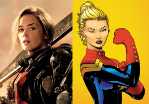 Emily Blunt is refreshingly blunt on why she's in the running for 'Captain Marvel'