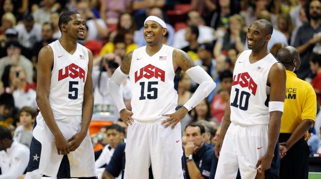 Kevin Durant, Carmelo Anthony, Kobe Bryant