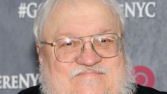 Here's George R.R. Martin Chewing On The New 'Game Of Thrones' Book As A Zombie