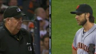 Madison Bumgarner And Umpire Joe West Had An Uncomfortably Long Staredown After A Bad Call