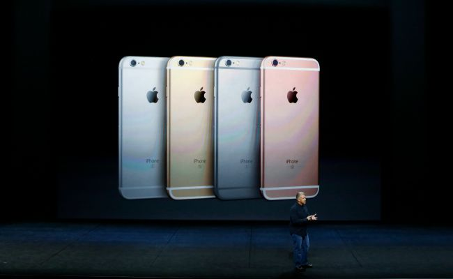 SAN FRANCISCO, CA - SEPTEMBER 9: Apple Senior Vice President of Worldwide Marketing Phil Schiller speaks on the new iPhone 6s and 6s Plus during a Special Event at Bill Graham Civic Auditorium September 9, 2015 in San Francisco, California. Apple Inc. is expected to unveil latest iterations of its smart phone, forecasted to be the 6S and 6S Plus. The tech giant is also rumored to be planning to announce an update to its Apple TV set-top box. (Photo by Stephen Lam/ Getty Images)