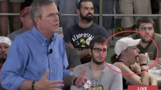 This Lady Can Barely Keep Her Eyes Open During Jeb Bush's Speech
