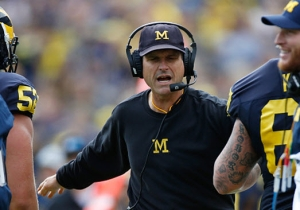 Jim Harbaugh Wants WrestleMania At The Big House In Ann Arbor, And He Wants To Be On It