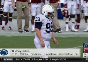 Penn State Has A 260-Lb Kicker Nicknamed 'Big Toe' And He's Just Tremendous