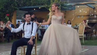 That Awesome 'Drunk History' Couple Had A Magical First Dance At Their Wedding