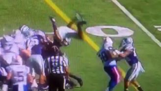 A Kansas State Player Tried To Leap On Top Of A Pile, And It Didn't Go Well