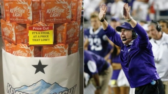 How A Lubbock Grocery Store Is Trolling TCU With Keystone Light Displays
