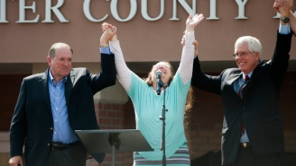The Band Survivor Is Mad That Kim Davis Celebrated Leaving Jail To 'Eye Of The Tiger'