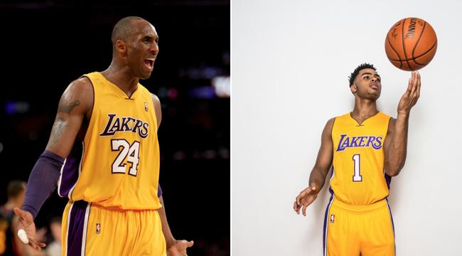 Kobe Bryant, D'Angelo Russell