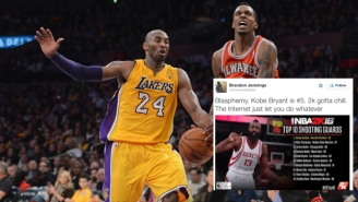 Brandon Jennings Explains Why Kobe Bryant's 'NBA 2K16' Rating Is 'Blasphemy'