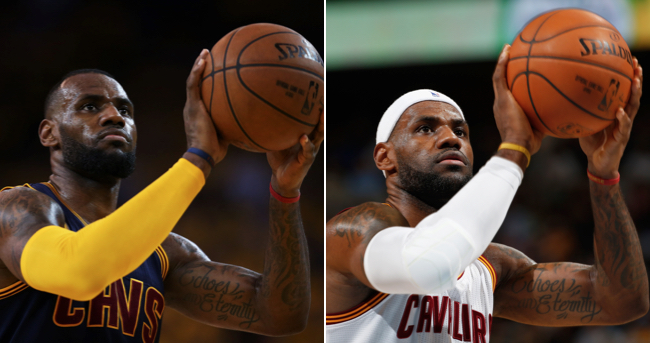 LeBron James Headband Shooting