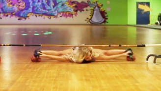 Meet The Rollerskating Limbo Queen Who Can Flatten Herself To Just Inches Off The Ground
