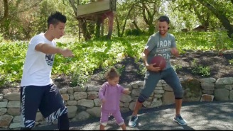 Steph Curry, Riley Curry, And Other Stars Teach Jeremy Lin 'How To Fit In The NBA'