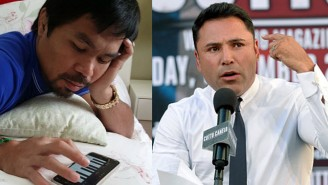 Manny Pacquiao And Oscar De La Hoya Beautifully Trolled Floyd Mayweather During His 'Last Fight'
