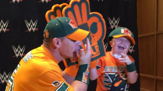 A Stranger Helped A Sick Kid Meet His Hero John Cena At WWE Night Of Champions