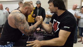 The Mountain From 'Game Of Thrones' Met His Match In This Arm Wrestling Champ