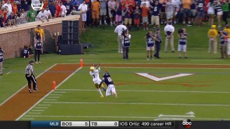 Watch Notre Dame's Miraculous Last-Minute Touchdown Pass To Avoid An Upset In Virginia