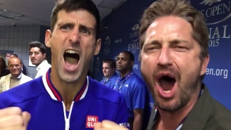 Novak Djokovic And Gerard Butler Celebrated By Yelling 'This Is Sparta!' After The U.S. Open Final