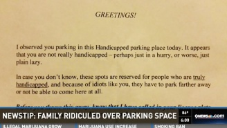 Some Monster Left A Mean Note On A Disabled Girl's Car Over A Handicapped Spot