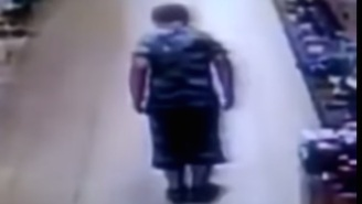 Is This Kid Shaking Out A Poop In A Supermarket The Grossest Thing You've Ever Seen? (Or Is It What Happens After?)