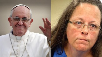 There's A Really Good Reason No One Believed Kim Davis Met The Pope
