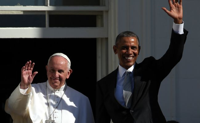 pope francis and obama