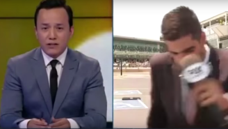 A Fox Sports Reporter Got Hit By A Car On Live TV