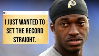 Here's RGIII's Latest Social Media Gaffe, A Reminder Of How Depressing This All Is