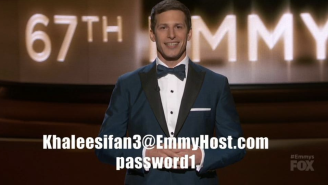 Andy Samberg Gave Away His HBO Now Log-In At The Emmys