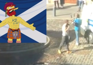 Watch This Boy Take Down A Scottish Hate Protester In The Most Scottish Way