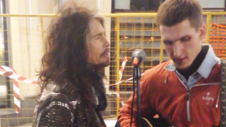 Watch Steven Tyler Surprise This Moscow Street Musician With An Impromptu Performance