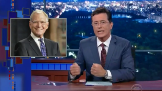 Stephen Colbert Paid Tribute To David Letterman While Showing Off His 'Late Show' Studio